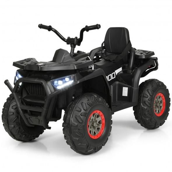 12 V Kids Electric 4-Wheeler ATV Quad with MP3 and LED Lights-Black