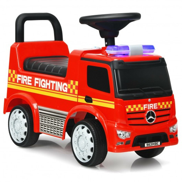 Kids Ride On Fire Engine Licensed Mercedes Benz Push and Ride Racer -Red