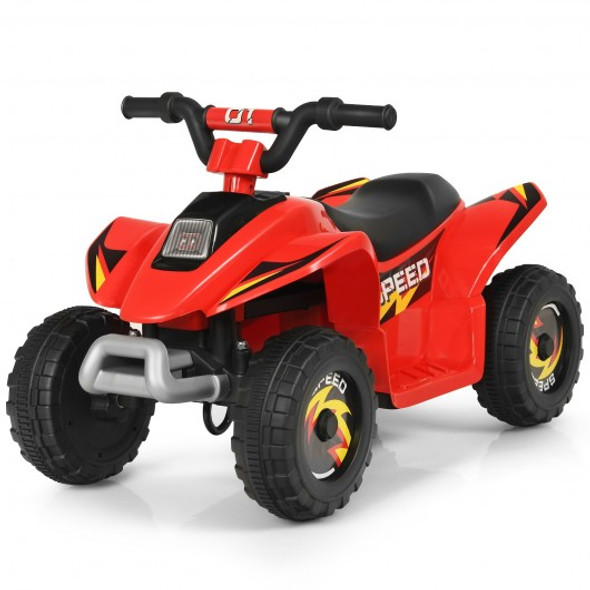6V Kids Electric ATV 4 Wheels Ride-On Toy -Red
