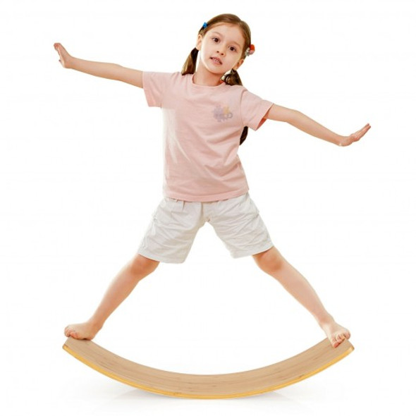 35.5 Inch Wooden Wobble Balance Board for Toddler and Adult