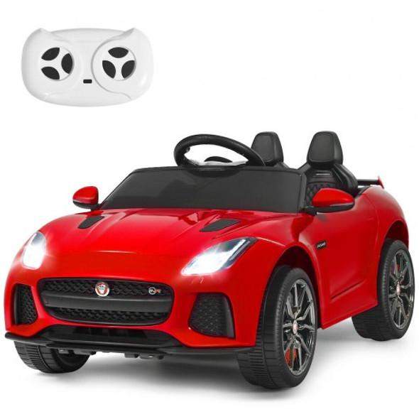 12V Jaguar F-Type SVR Licensed Kids Ride On Car-Red