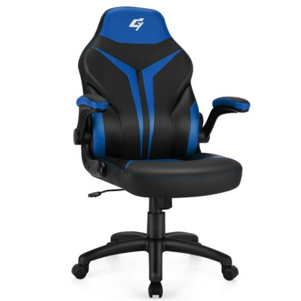 Height Adjustable Swivel High Back Gaming Chair Computer Office Chair-Blue