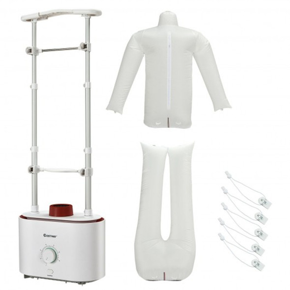 Inflatable Drying and Ironing Machine 1050W Automatic Garment Steamer-White