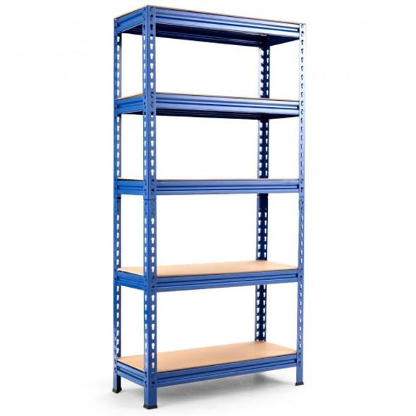 5-Tier Steel Shelving Unit Storage Shelves Heavy Duty Storage Rack-Blue