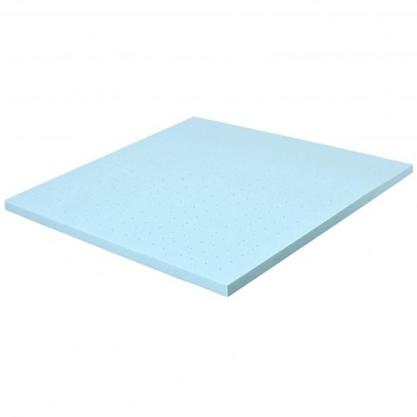 "4"" Gel Injection Memory Foam Mattress Top Ventilated Mattress Double Bed-Queen Size"