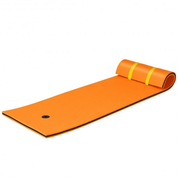 3-layer Tear-resistant Relaxing Foam Floating Pad-Orange