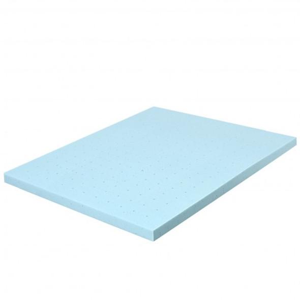 "4"" Gel Injection Memory Foam Mattress Top Ventilated Mattress Double Bed-Full Size"