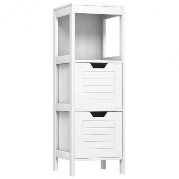 Floor Cabinet Multifunction Storage Rack Stand Organizer - COHW61891WH