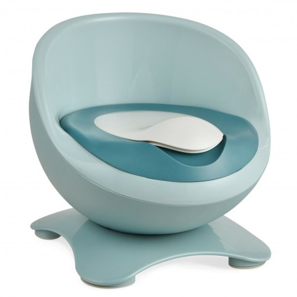 Egg-Shaped Toddler Training Toilet with Removable Container-Blue