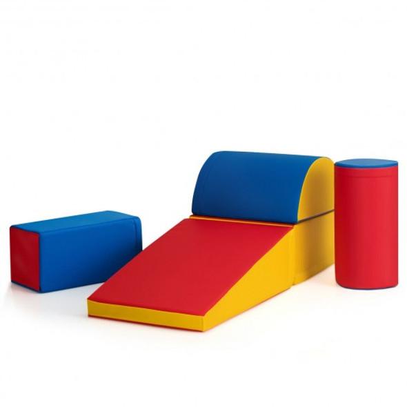 5-Piece Set Climb Activity Play Safe Foam Blocks-Red
