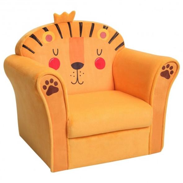 Kids Armrest Lion Upholstered Sofa