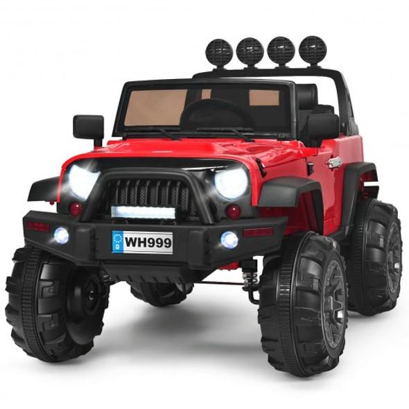 12V Kids Spring Suspension Ride On Truck-Red