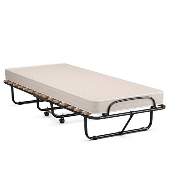 Extra Guest Folding Bed with Memory Foam Mattress