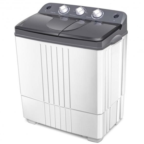 Portable Semi-Automatic Twin-tub Portable Mini Washing Machine