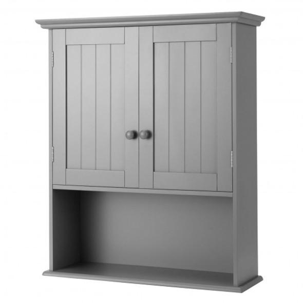 Wall Mount Bathroom Storage Cabinet -Gray - COHW66930GR