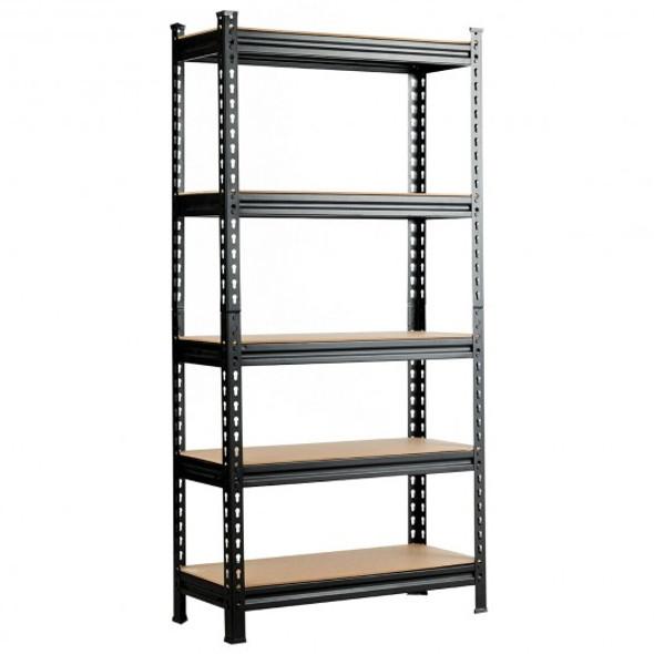 5-Tier Steel Shelving Unit Storage Shelves Heavy Duty Storage Rack - COTL35150BK