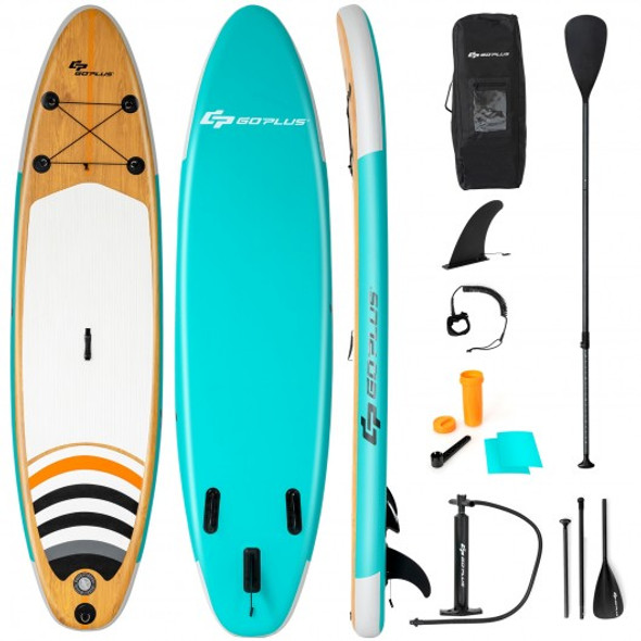 10' Inflatable Stand up Paddle Board Surfboard SUP with Bag