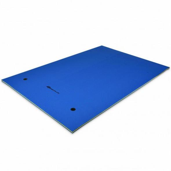 9' x 6' 3 Layer Floating Water Pad Foam Mat -Blue