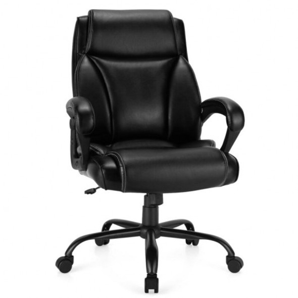 400 Pounds Big and Tall Adjustable High Back Leather Office Chair Task Chair