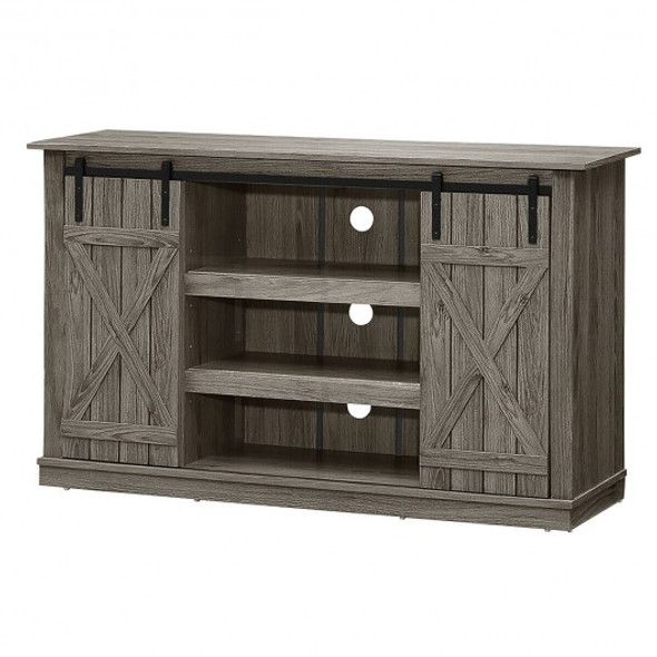 Sliding Barn TV Stand Console Table-Gray
