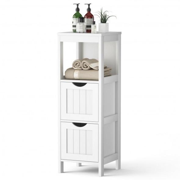 Floor Multifunction Bathroom Storage Organizer Rack with 2 Drawers