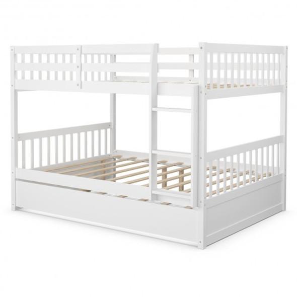 Full over Full Bunk Bed Platform Wood Bed