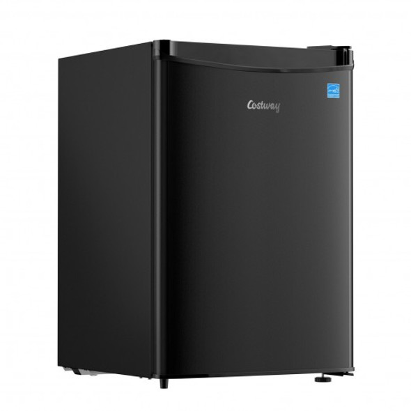 2.5 Cu Ft Compact Single Door Refrigerator with Freezer-Black