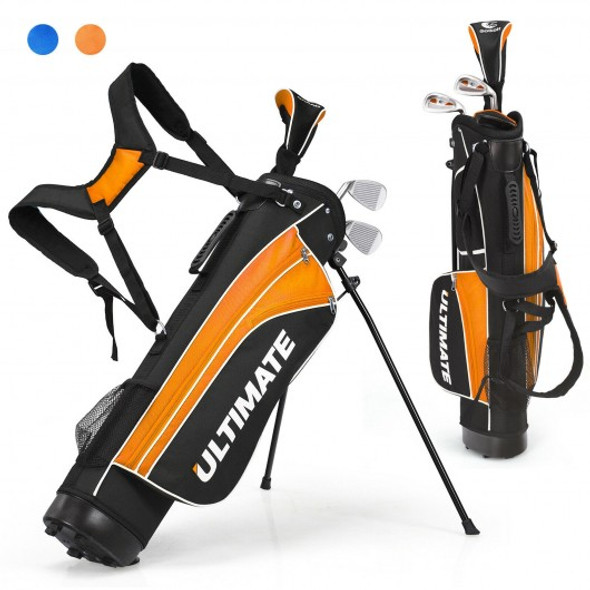 "Set of 5 Ultimate 31"" Portable Junior Complete Golf Club Set for Kids Age 8+ -Orange"