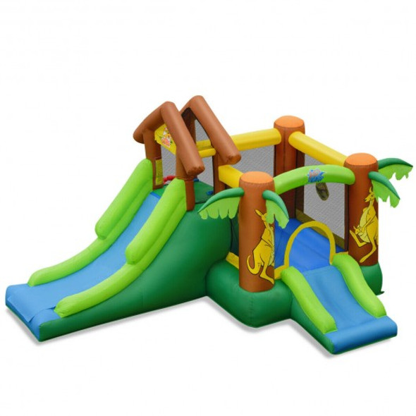 Kids Inflatable Jungle Bounce House Castle including Bag without Blower