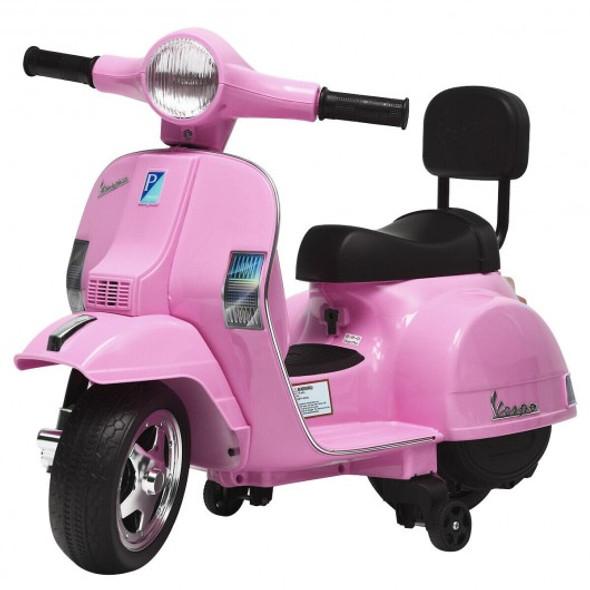 6V Kids Ride On Vespa Scooter Motorcycle for Toddler-Pink