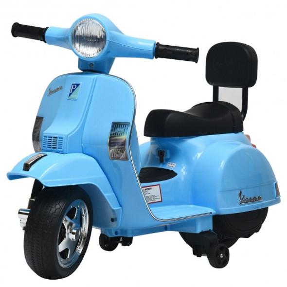 6V Kids Ride On Vespa Scooter Motorcycle for Toddler-Dark Blue
