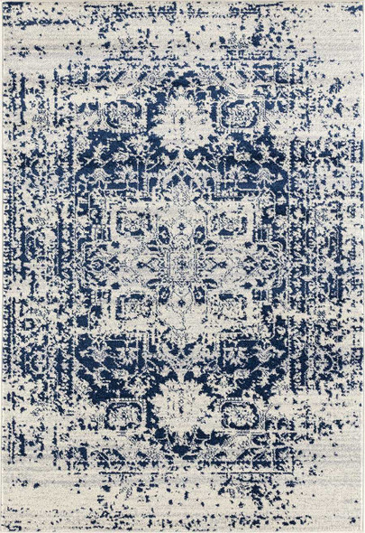 "118"" x 158"" Midnight Blue Olefin / Frieze Rug"