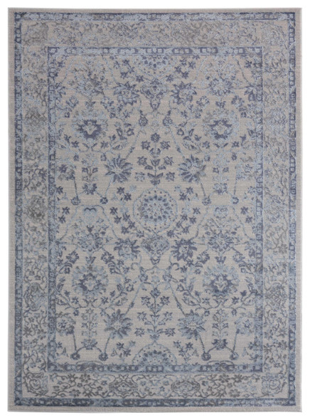 "118"" x 158"" Blue Polyester / Olefin Oversize Rug"