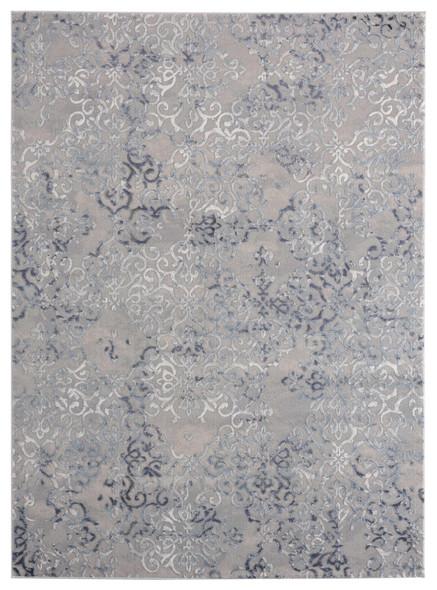 "118"" x 158"" Blue Polyester / Olefin Oversize Rug - 367877"