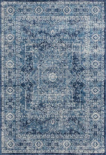 "118"" x 158"" Midnight Blue Olefin / Frieze Rug - 366477"