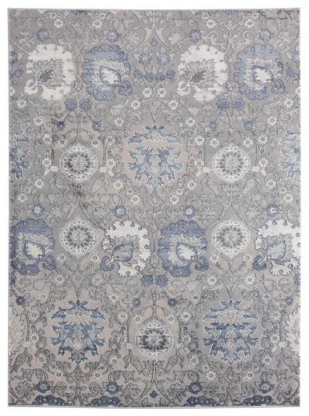 "118"" x 158"" Blue Polyester / Olefin Oversize Rug - 367891"