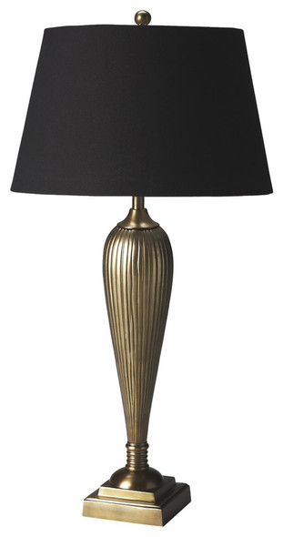Camila Antique Brass Table Lamp