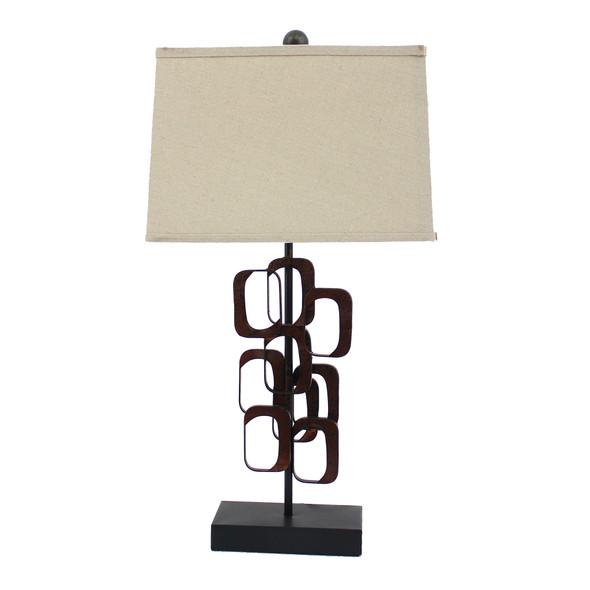 """13"""" x 15"""" x 31"""" Bronze, Traditional - Table Lamp"""