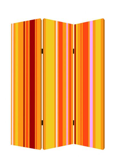 "1"" x 48"" x 72"" Multi Color Wood Canvas Deep Saffron Screen"