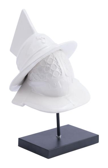 "10.6"" x 10.6"" x 18.5"" White, Ceramic, Figurine"