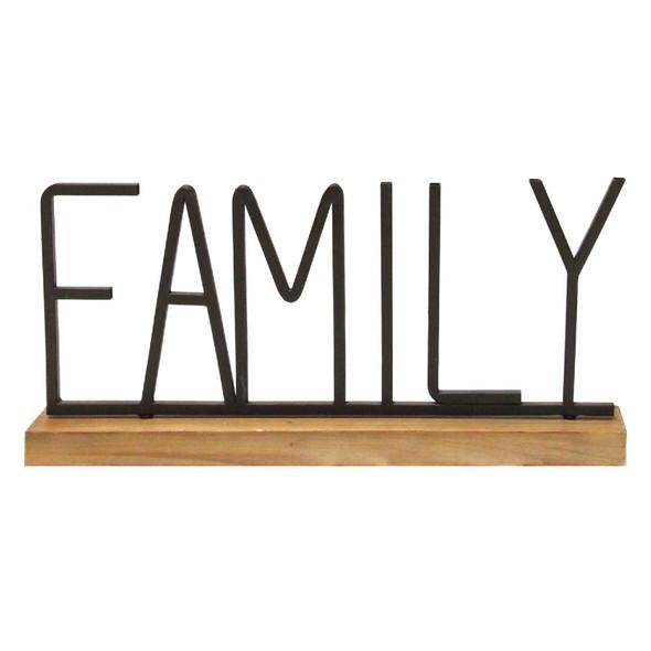 """Family"" Metal amp; Wood Tabletop"