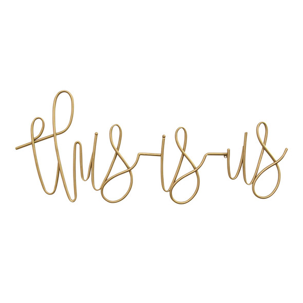 """""""This Is Us"""" Metal Script Wall Decor"""