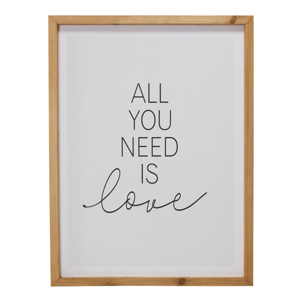 """""""All You Need is Love"""" Framed Wall Art"""