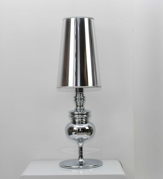 """7"""" X 7"""" X 22"""" Silver Carbon Steel Table Lamp"""