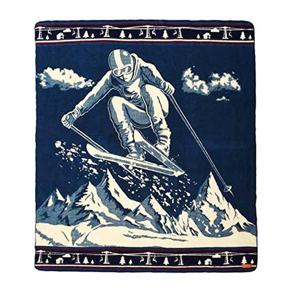 Queen Size Ultra Soft Ski Jumper Handmade Woven Blanket