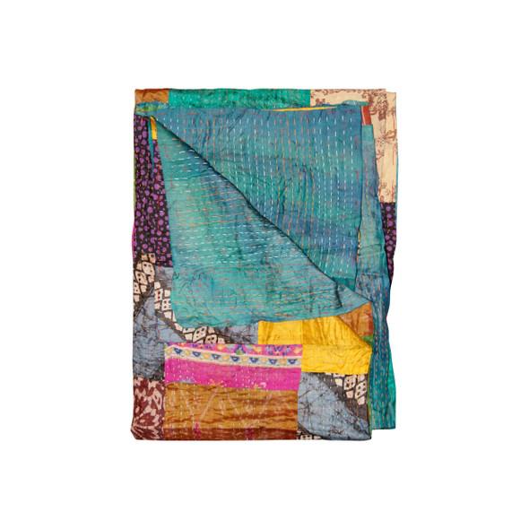 """50"""" x 70"""" Silk Multicolor Throws - 358046"""
