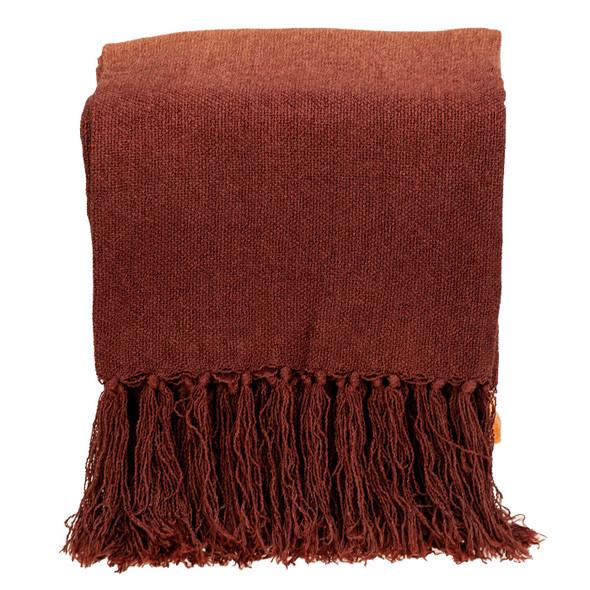 Orange Ombre Handloom Throw Blanket