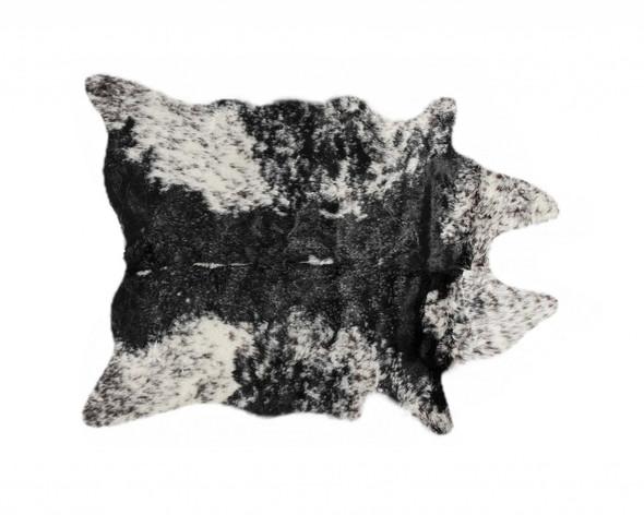 "0.8"" x 90"" x 63"" Acrylic Plush, Polyester Samp;P Black White Rug"