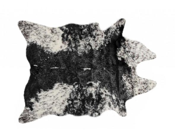 "0.8"" x 60"" x 51"" Acrylic Plush, Polyester Samp;P Black White Rug"