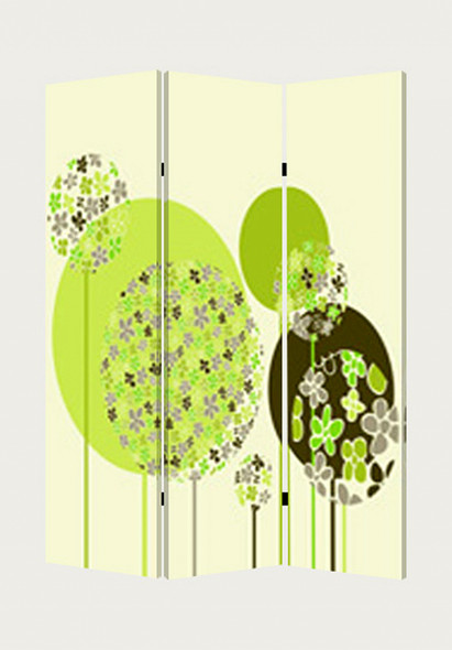"""1"""" x 48"""" x 72"""" Multi Color Wood Canvas Floral Buds Screen"""